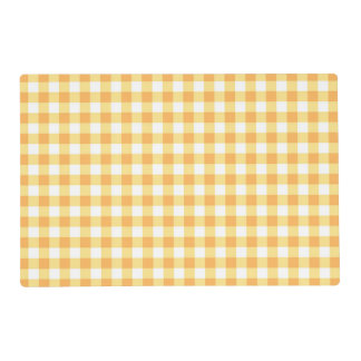 """Pumpkin Gingham"" Laminated Table Placemat Laminated Place Mat"