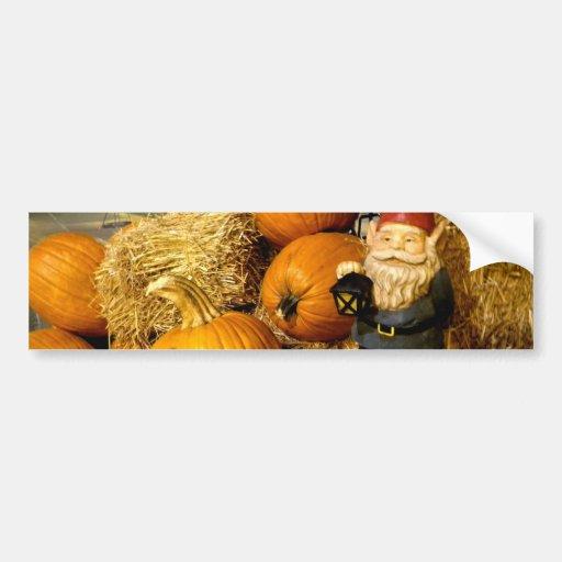 Pumpkin Gnome I Bumper Sticker