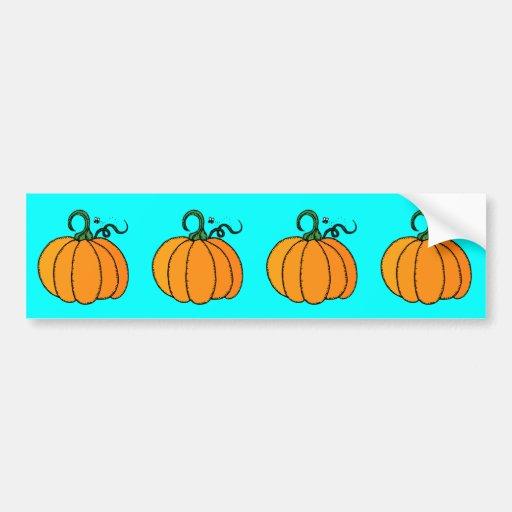 Pumpkin - Gourd, Squash, Halloween, Fall Bumper Sticker