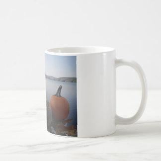 Pumpkin Gourds on Lake Arrowhead at Dusk Coffee Mugs
