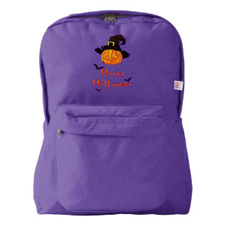 Pumpkin Halloween American Apparel™ Backpack, Navy Backpack