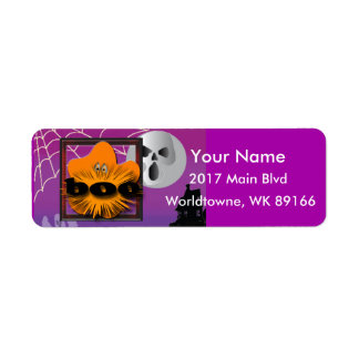 Pumpkin Halloween moon Return Address Label
