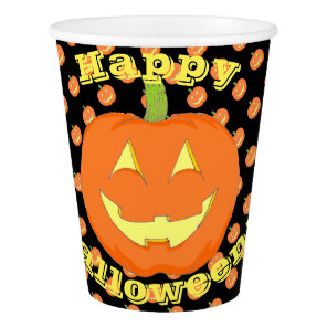 Pumpkin Halloween Paper Cups