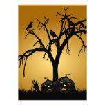 Pumpkin Halloween Party Invitation-burnt orange