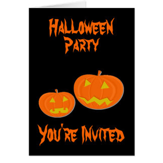 Pumpkin Halloween Party Invitations Note Card