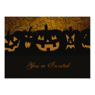 Pumpkin Halloween Party Personalized 11 Cm X 16 Cm Invitation Card
