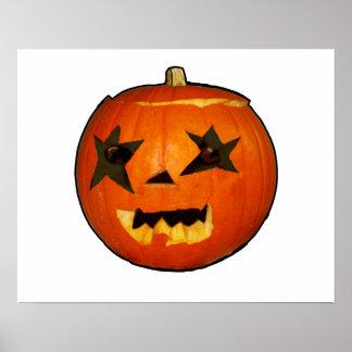 pumpkin halloween scare horror design poster