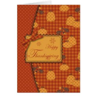 Pumpkin Harvest Card