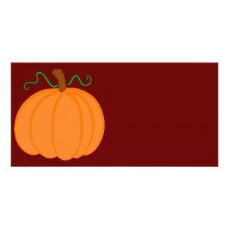 Pumpkin Harvest Photo Card