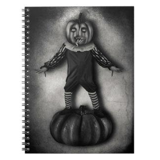 Pumpkin Head Custom Notebook