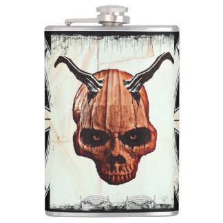 Pumpkin Head Hip Flask