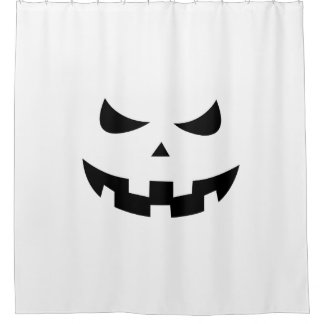 Pumpkin head shower curtain