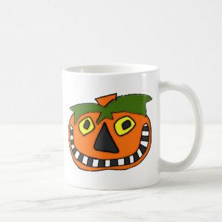Pumpkin Head Trick or Treat Basic White Mug