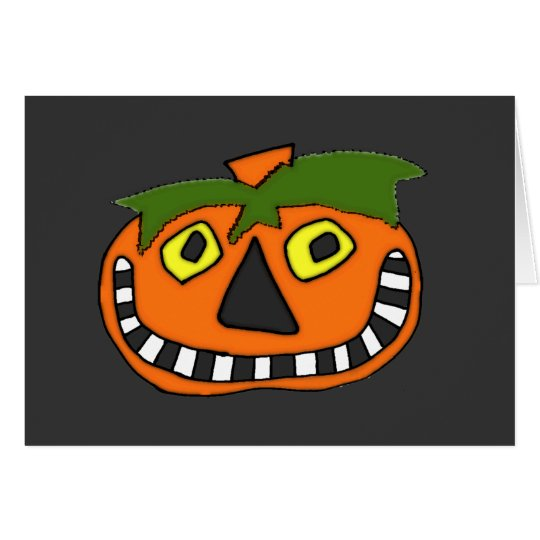 Pumpkin Head Trick or Treat Card