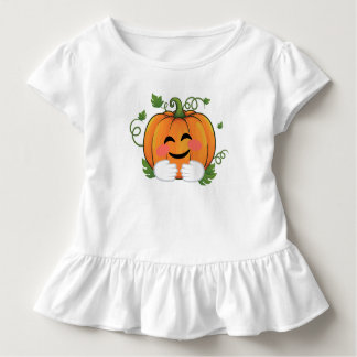 Pumpkin Hugs Emoji Thanksgiving Halloween Toddler T-Shirt