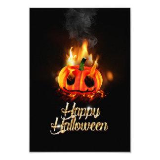 Pumpkin in Hell 9 Cm X 13 Cm Invitation Card