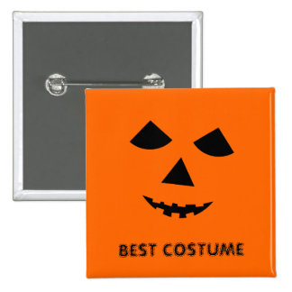 Pumpkin Jack o Lantern Best Halloween Costume 15 Cm Square Badge