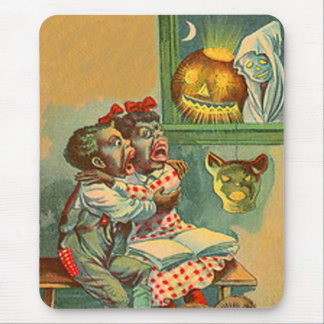 Pumpkin Jack O Lantern Ghost Mouse Pad