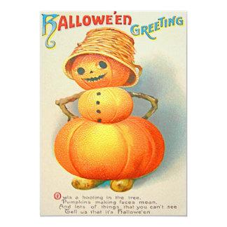 Pumpkin Jack O' Lantern Snowman Card