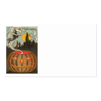 Pumpkin Jack O Lantern Witch Full Moon Double-Sided Standard Business Cards (Pack Of 100)
