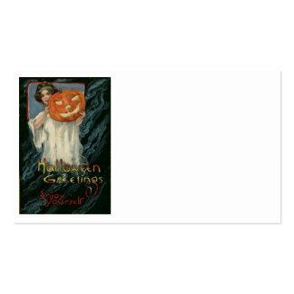 Pumpkin Jack O Lantern Woman Pack Of Standard Business Cards