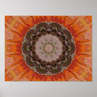 Pumpkin Kaleidoscope Poster
