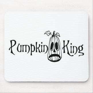 Pumpkin King B W Mouse Pads
