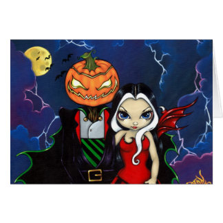 Pumpkin King s Night Out Greeting Card