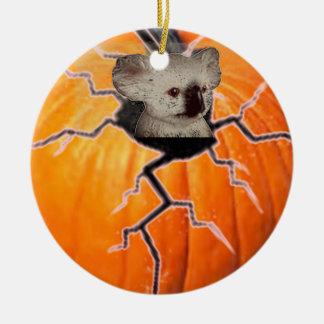 Pumpkin Koala Christmas Ornament