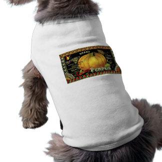 pumpkin label pet clothes