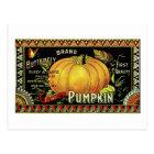 pumpkin label postcard