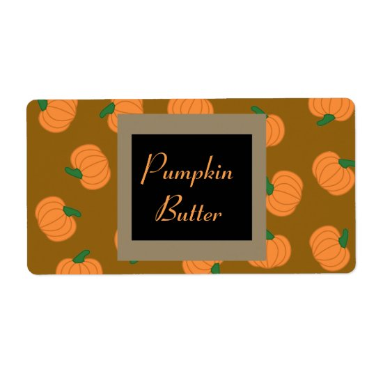 Pumpkin Labels in fall colours