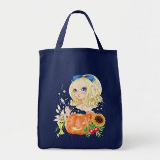 Pumpkin Lady tote (navy) Bags