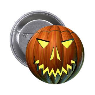 Pumpkin Lantern 6 Cm Round Badge