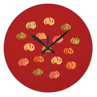 Pumpkin Large Round Wall Clock