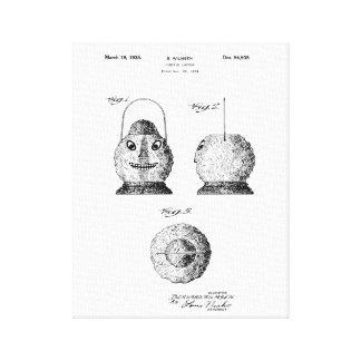 Pumpkin Latern Patent Canvas