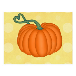 Pumpkin Love Postcard