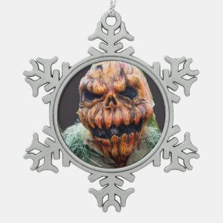 Pumpkin Man, Run Away Pewter Snowflake Decoration