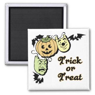 Pumpkin & Masks Trick or Treat Halloween Magnet