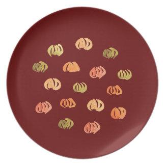 Pumpkin Melamine Plate