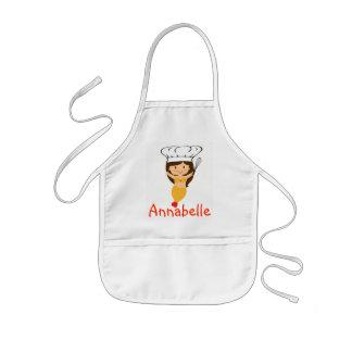 Pumpkin Mermaid Chef Personalize Kids Apron