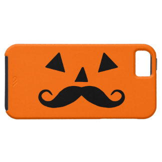 Pumpkin Moustache Case For The iPhone 5