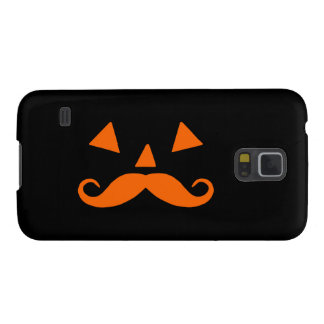 Pumpkin Moustache Galaxy S5 Cases