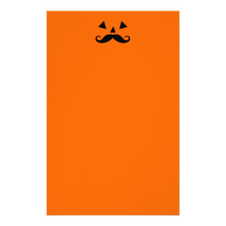 Pumpkin Moustache Stationery
