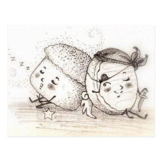 Pumpkin Muffin & Sugar Cookie Postcard