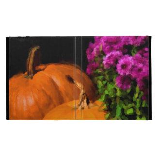 Pumpkin Mums iPad Folio Covers