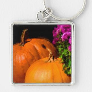 Pumpkin Mums Keychain