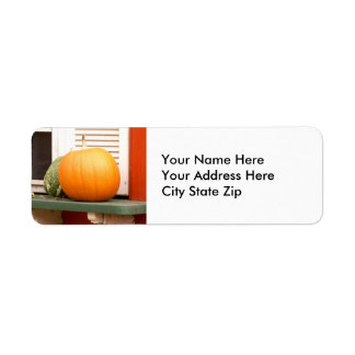 Pumpkin on a Shelf Return Address Label