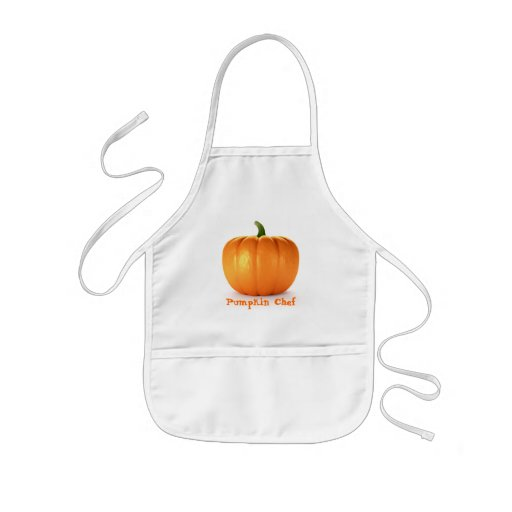 Pumpkin On White Background Aprons