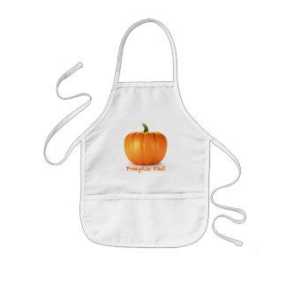 Pumpkin On White Background Kids Apron